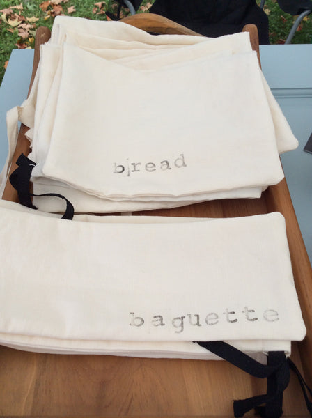 linen bread and baguette bags