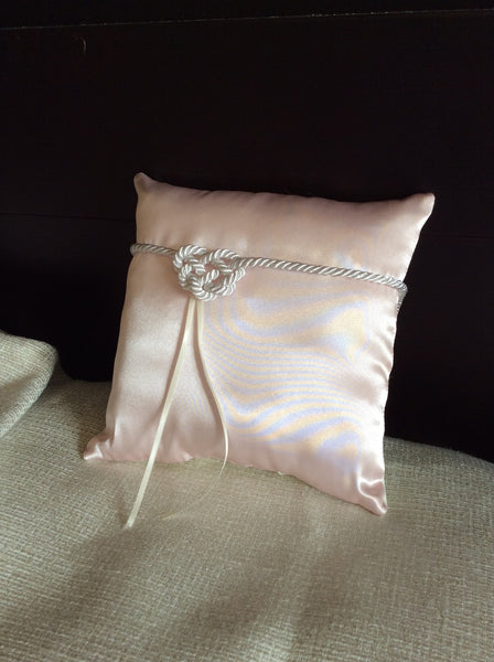 Pocket Pillow with Heart Knot - Satin