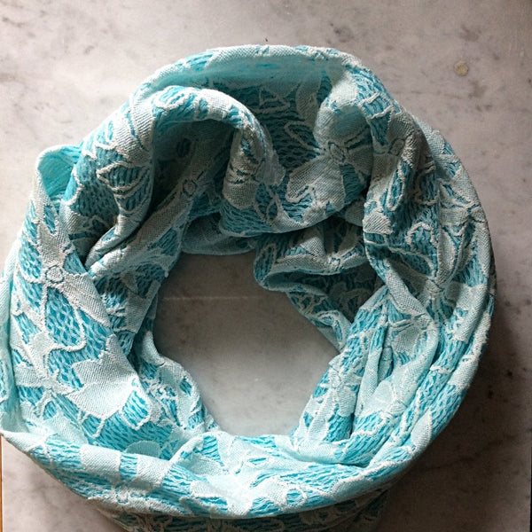 Infinity Scarf - Turquoise Floral