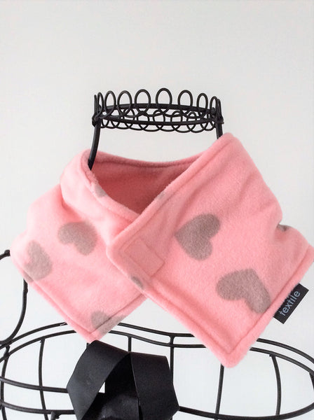 Child's Neck Wrap - Pink Heart
