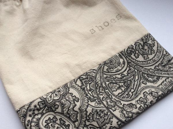 Shoe Bag - Paisley Print