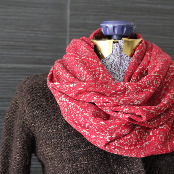 Infinity Scarf - Cranberry