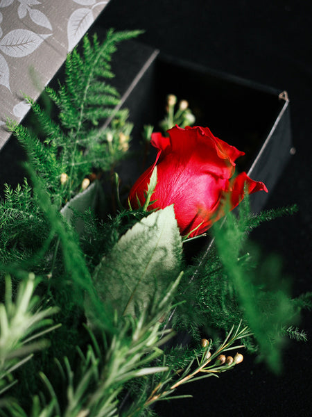 Rose Gift Box -  choice of colours