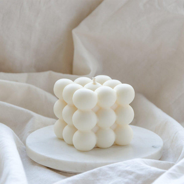 Bubble Candle white wax - vegan | MERSOR