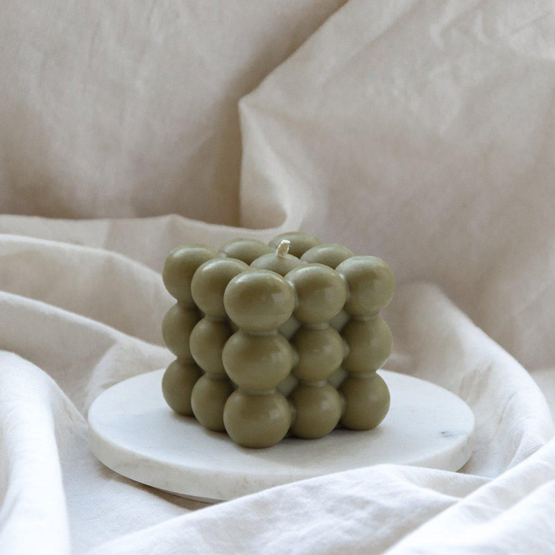 Bubble Candle | Olive