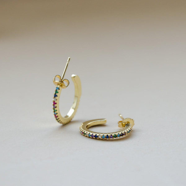 Rainbow Hoops VK Collection | Gold