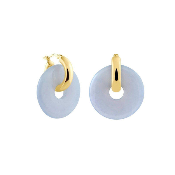 Creoles + Big Chalcedony | Gold