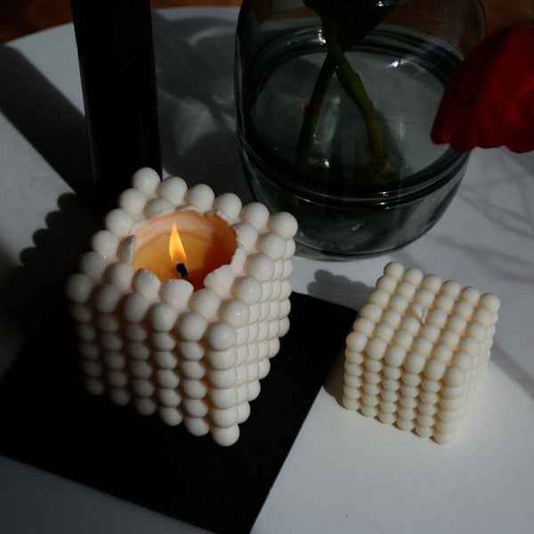 The Grand Bubble Candle 16x16 | Cream