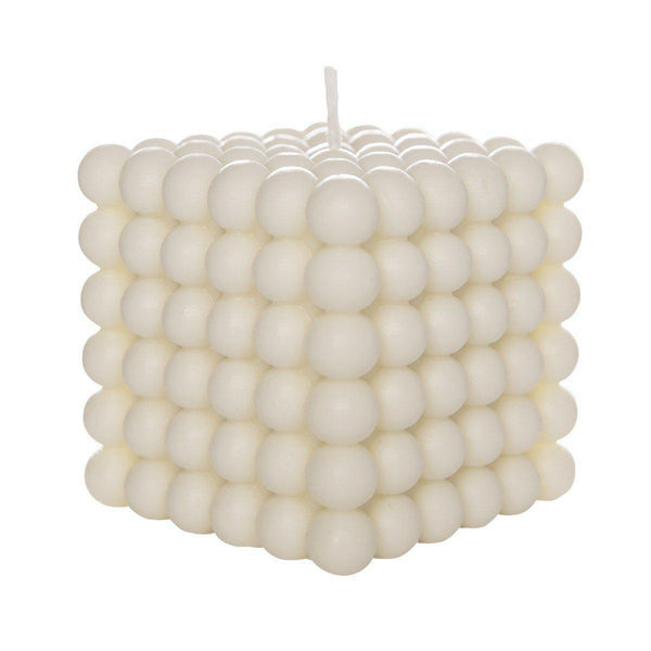 The Grand Bubble Candle 20x20 | Cream