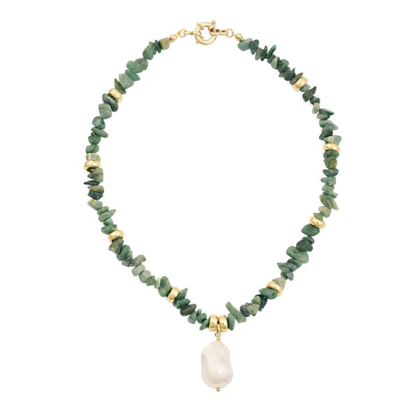 Prasem Chain | Green & Gold