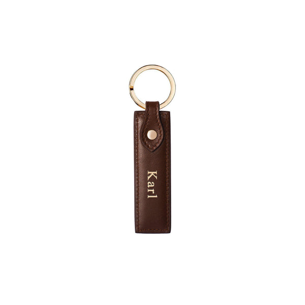 Keycharm Classic | Brown & Gold