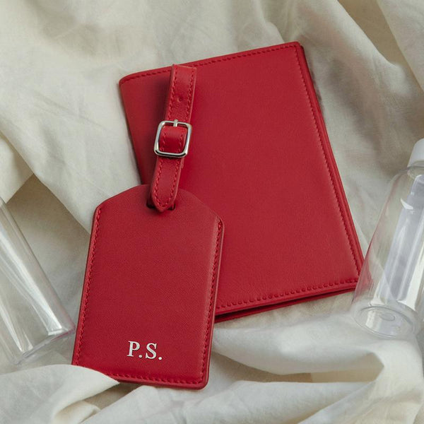 Luggage Tag | Scarlet & Silver
