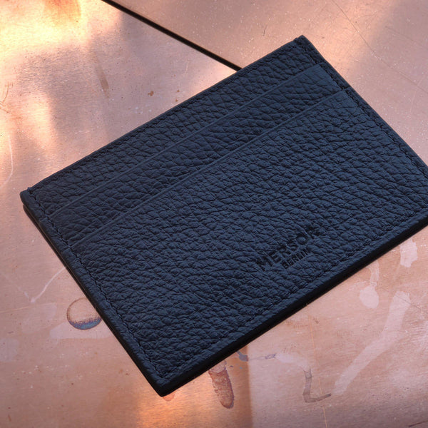 Cardholder Grained Leather | Night Blue - Pre-Order