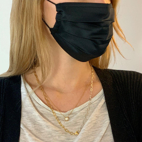 Face Mask with Silk Feeling | Black