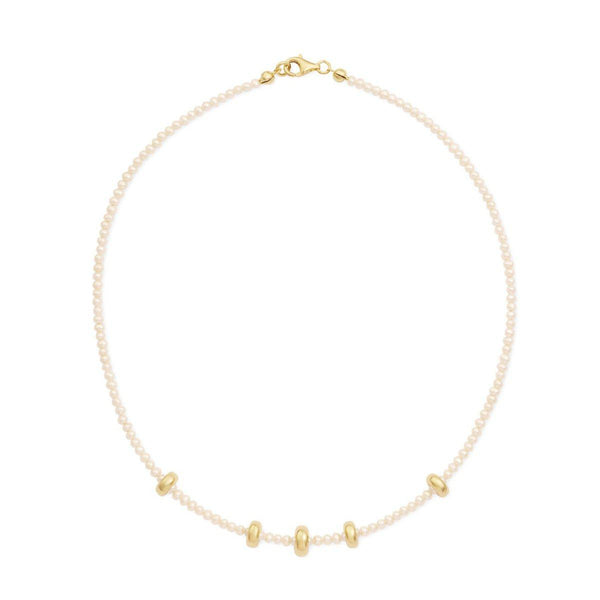 Mini Pearl Pea Chain | mother of pearl & gold