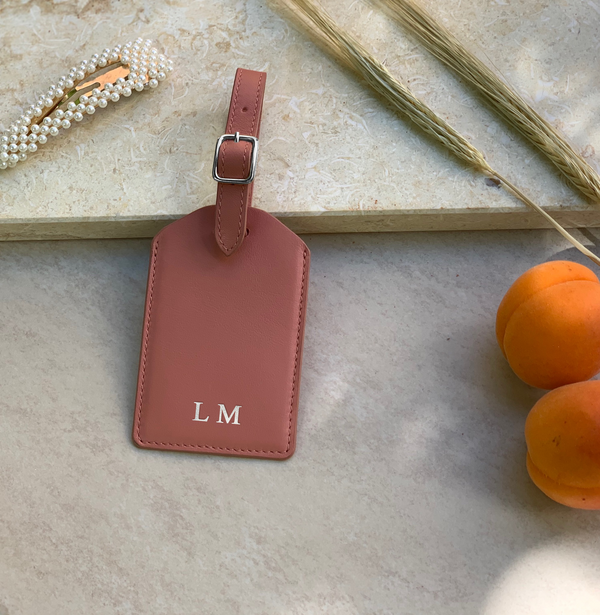 Luggage Tag | Misty Rose & Silver