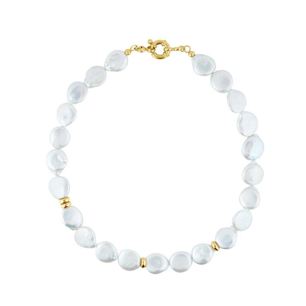 Queen Of The Day Chain | mother of pearl & gold