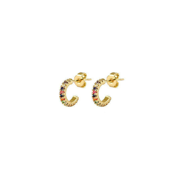 Mini Rainbow Hoops VK Collection | Gold