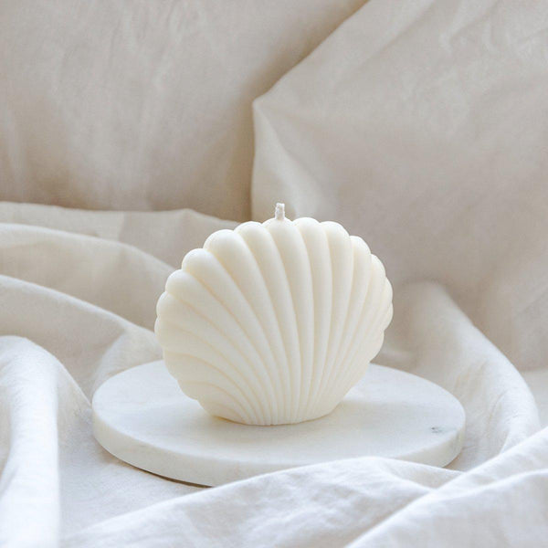 Shell Candle white - vegan | MERSOR