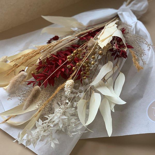 Dried flowers bouquet | Red