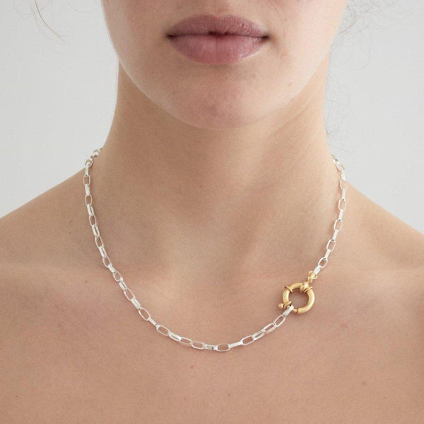 Bicolor Bicycle Kette | Silber & Gold