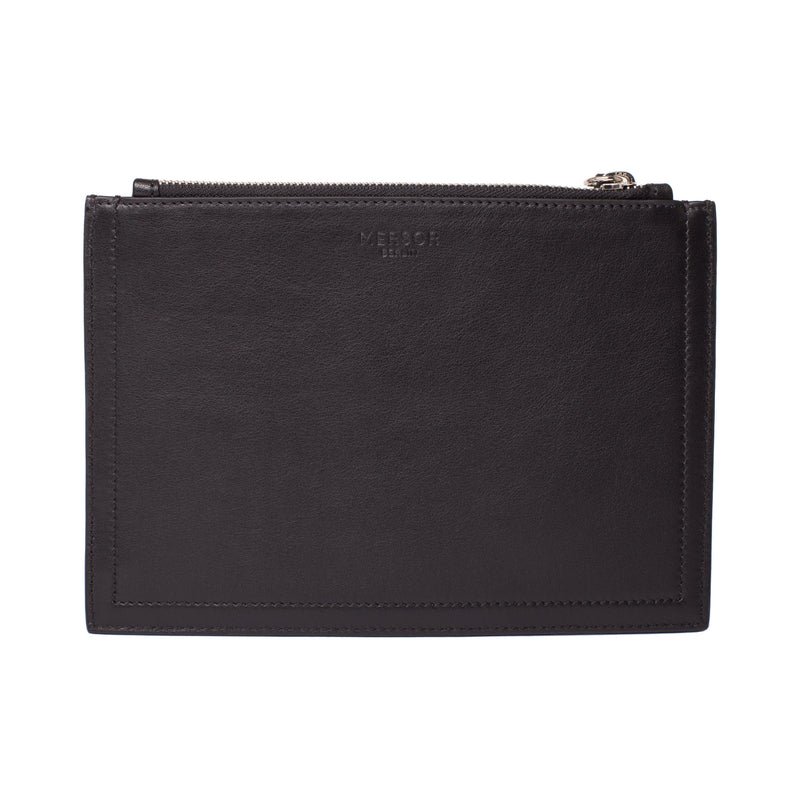 MERSOR Big Clutch in Pouch Style Customized - Black & Silver | MERSOR