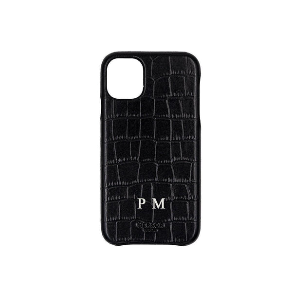 iPhone 11 Case Croc Leather | Black