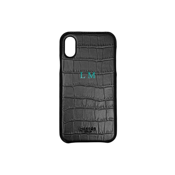 iPhone X / XS Case Croc Leather | Black