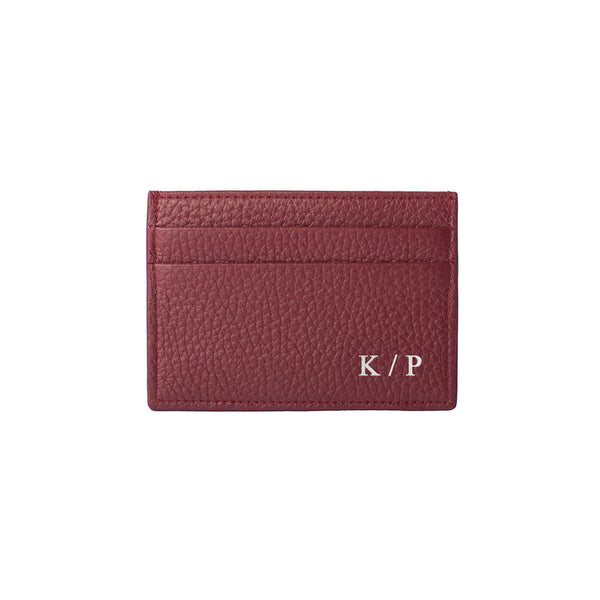 Personalized Cardholder in Red by MERSOR