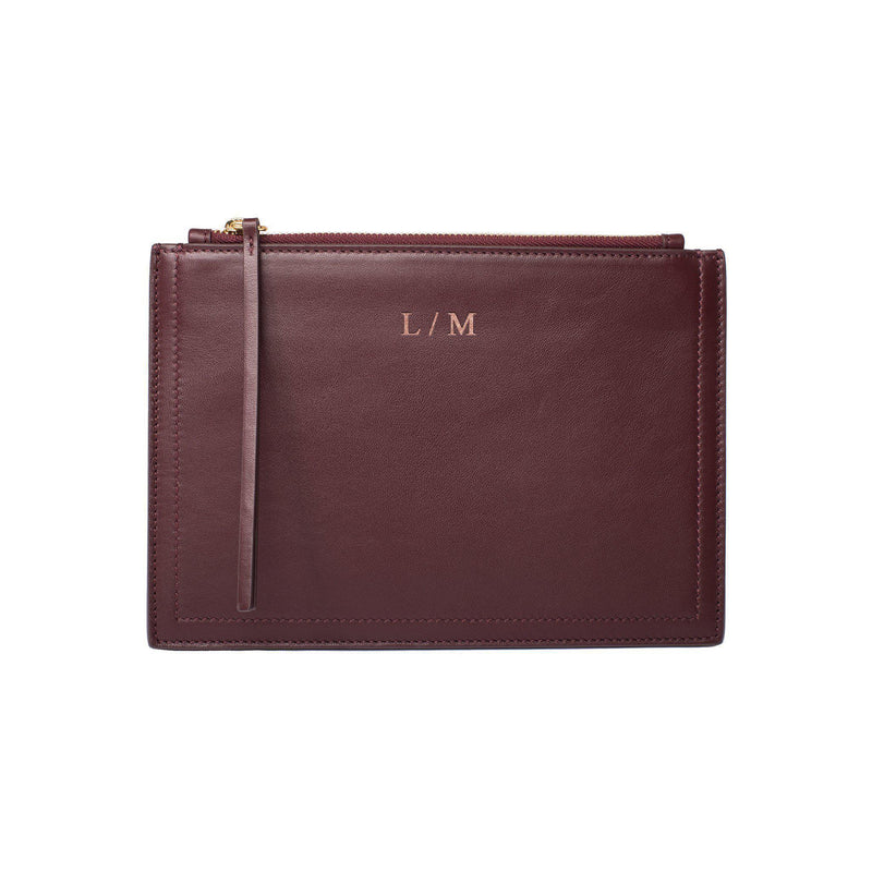 MERSOR Small Clutch in Pouch Style | Darkred