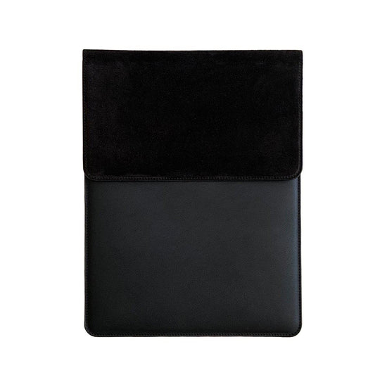 Laptop Sleeve Wildleder | Schwarz