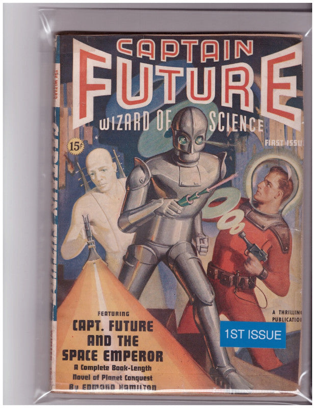 CAPTAIN FUTURE PULP MAGAZINE-WINTER 1940-1ST ISSUE-FINE+
