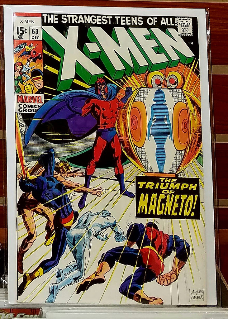 X-MEN #63 (1969) NEAL ADAMS COVER KA-ZAR APPEARANCE-VF-