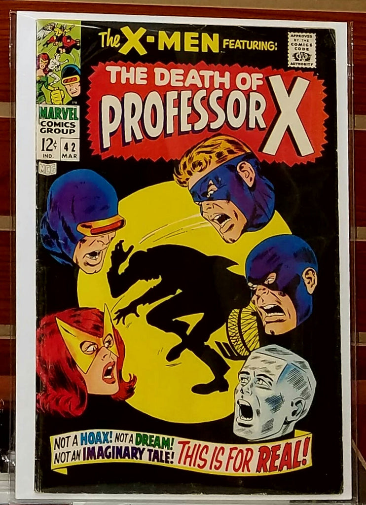 X-MEN #42 (1968) JOHN BUSCEMA COVER HERB TRIMPE-VF-