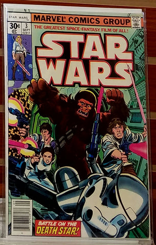 STAR WARS #3 (1977) 1ST PRINTING MARVEL-NM-