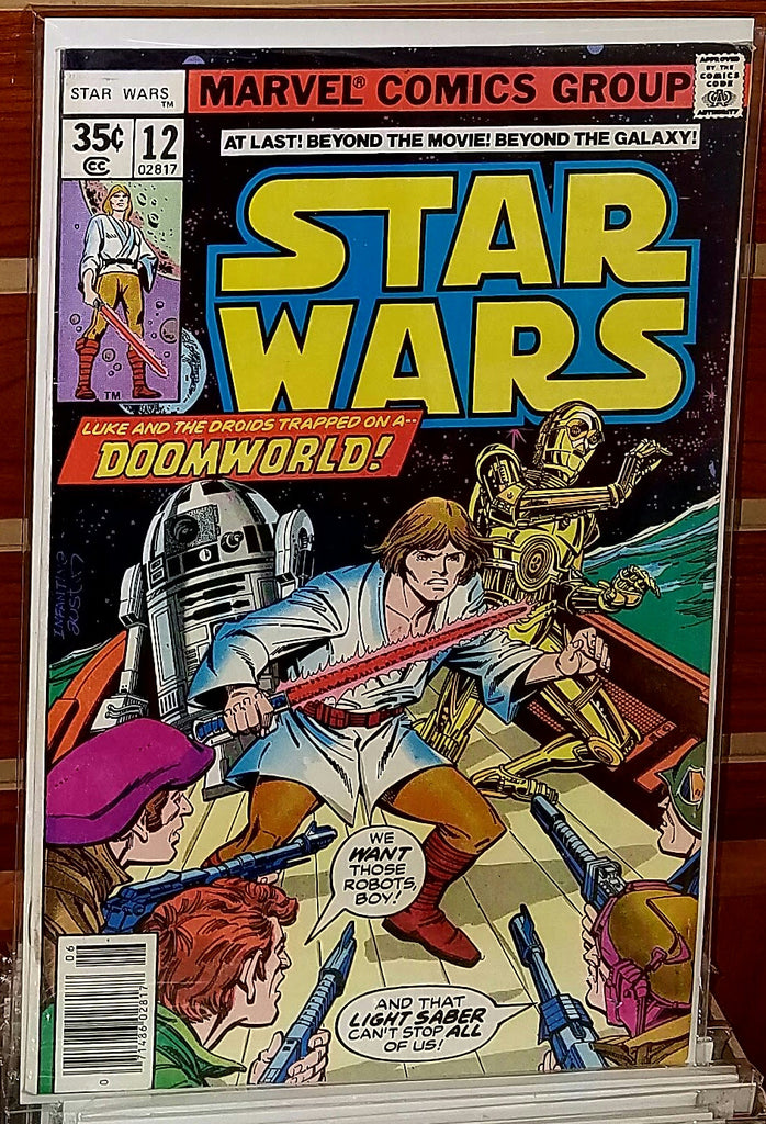 STAR WARS #12 (1978) 1ST PRINTING GEORGE LUCAS MARVEL-VF+