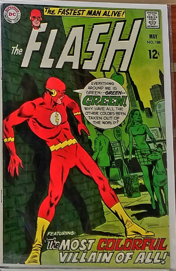 FLASH #188 (1969) MIKE ESPOSITO MIRROR MASTER-VF/NM