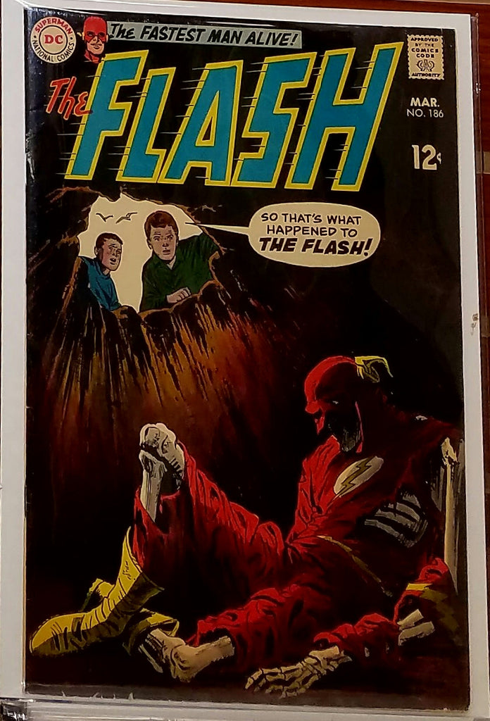 FLASH #186 (1969) MIKE ESPOSITO REVERSE FLASH-FINE/VF