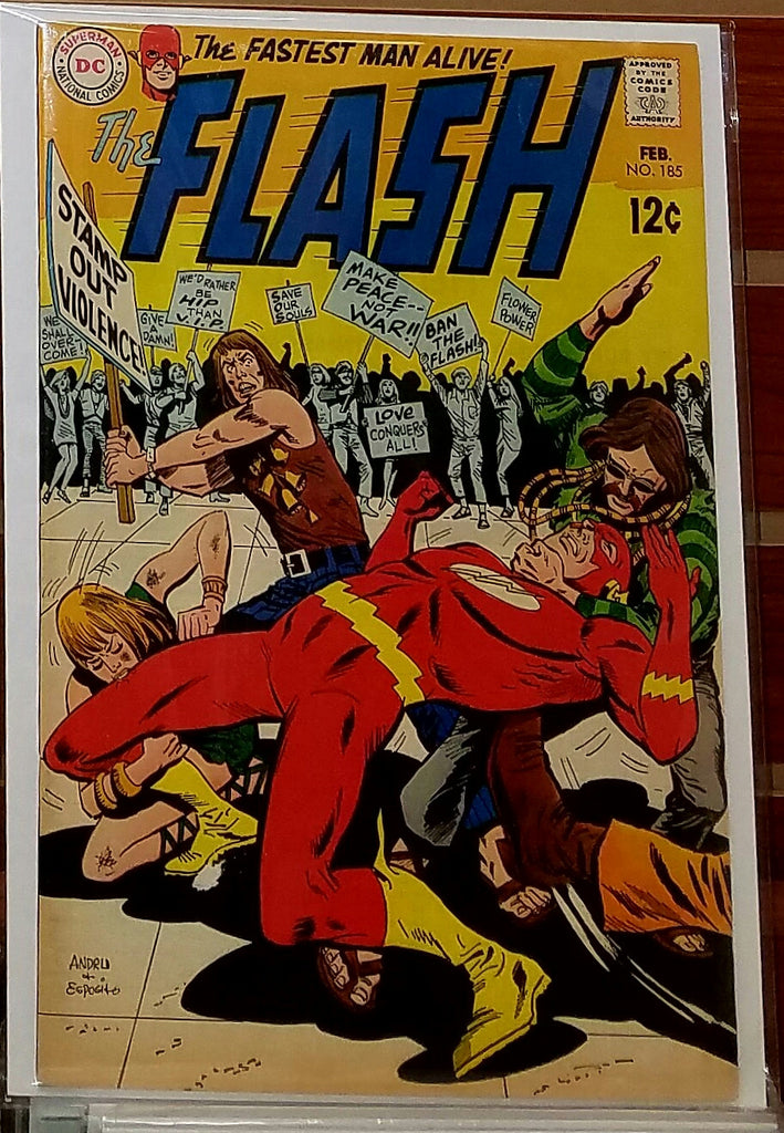 FLASH #185 (1969) MIKE ESPOSITO ROSS ANDRU-VF