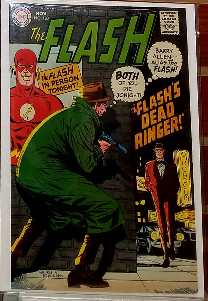 FLASH #183 (1968) MIKE ESPOSITO ROSS ANDRU-VF