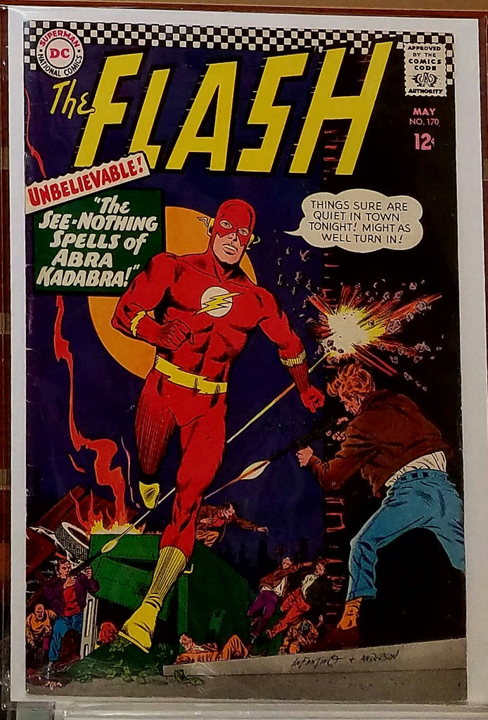 FLASH #170 (1967) CARMINE INFANTINO COVER-VF