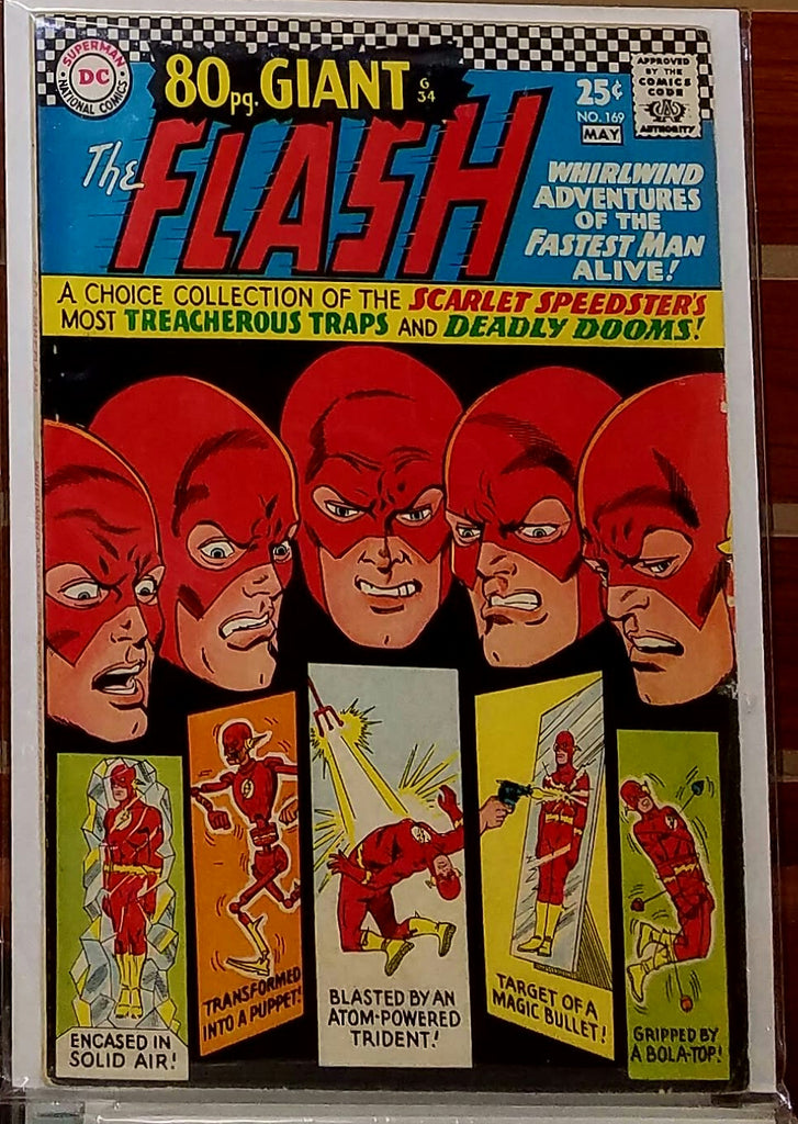 FLASH #169 (1966) 80 PAGE GIANT-FINE/VF