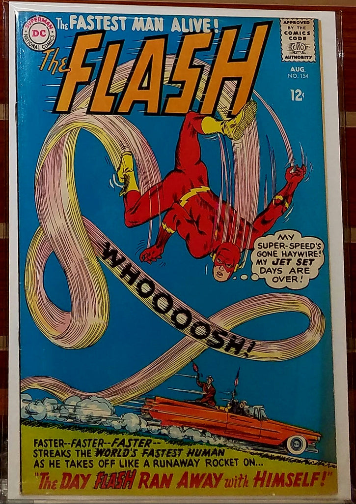 FLASH #154 (1965) CARMINE INFANTINO COVER-FINE/VF