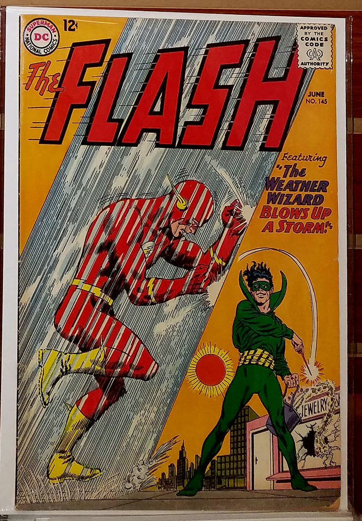 FLASH #145 (1964) CARMINE INFANTINO COVER-FINE+VF