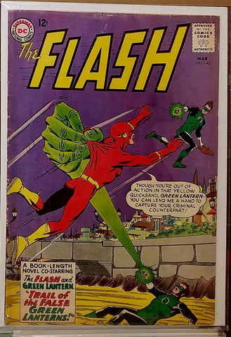 FLASH #143 (1964) BARRY ALLEN HAL JORDAN-FINE