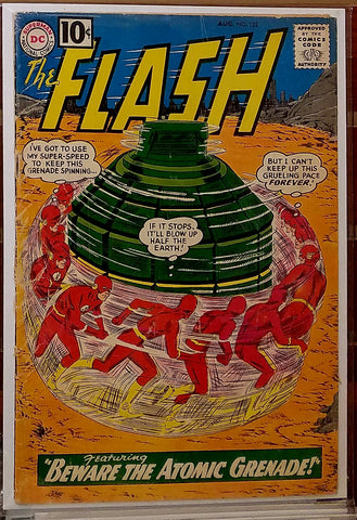 "FLASH #122 (1961) 1ST APPEARANCE ROSCOE ""THE TOP"" DILLON-VG+"