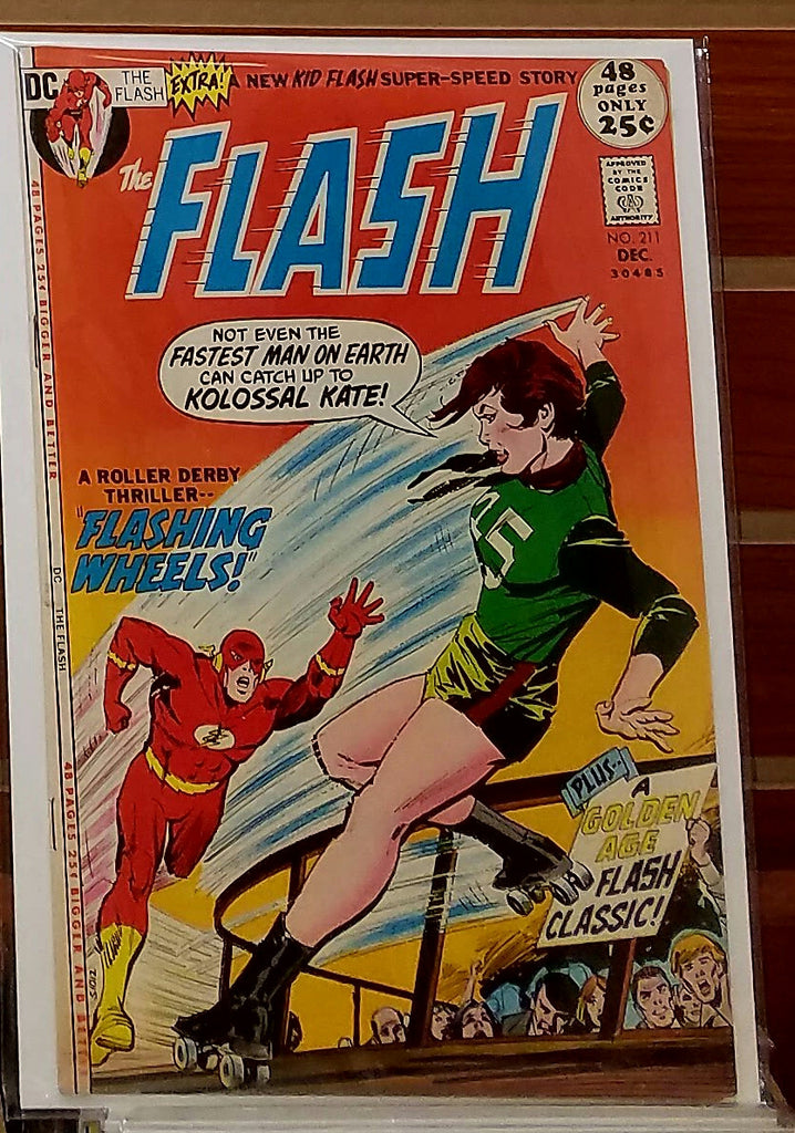 FLASH #211 (1971) DICK GIORDANO COVER CARY BATES-VF