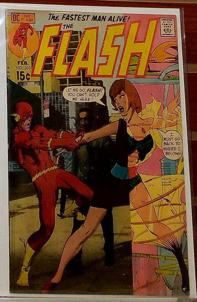 FLASH #203 (1971) NEAL ADAMS COVER-VF