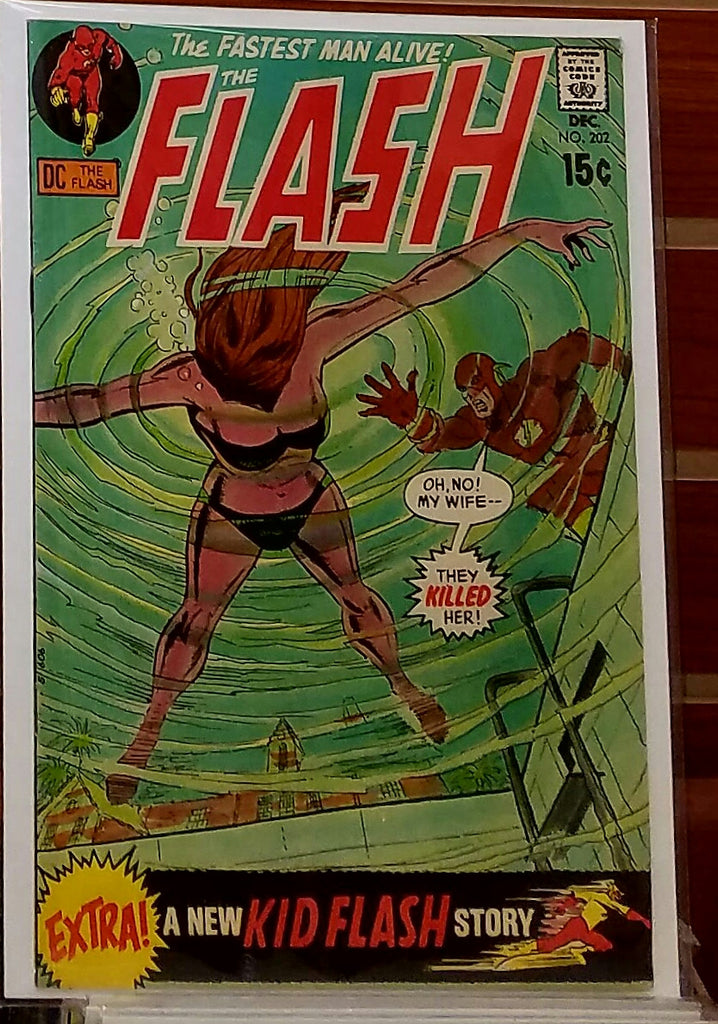 FLASH #202 (1970) DICK GIORDANO COVER IRV NOVICK-VF