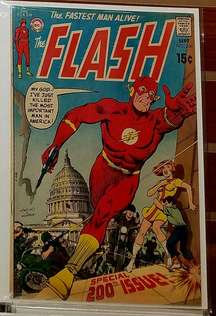 FLASH #200 (1970) CARMINE INFANTINO COVER IRV NOVICK-VF+